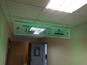 Подвесные таблички с LED торцевой подсветкой